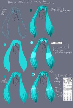 Step By Step - Hatsune Miku Hair TUT by Saviroosje
