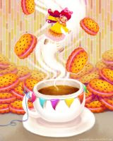 dancer of the strawberry coffee by ambientdream