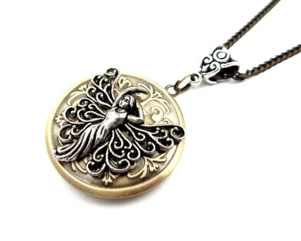 Magical Fairy Locket Pendant by IndustrialSwank