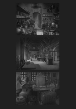 some interior concepts by TylerEdlinArt