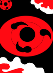 Akatsuki clouds and Sharingan Background by Evil-Black-Sparx-77