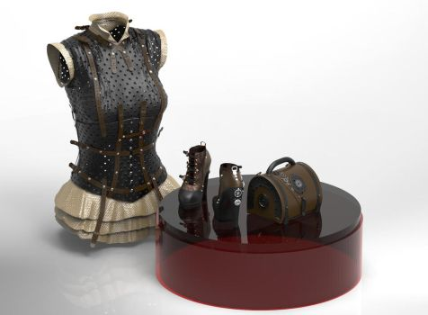Steampunk Outfit by goor