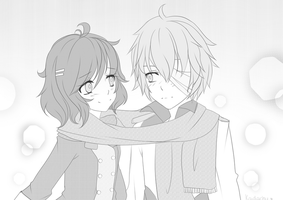 :at: Let's stay warm together by Kaidachu