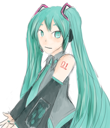 Miku by Lystrialle