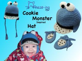 Amaze-ing Baby Cookie Monster Hat by Amaze-ingHats