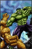 hulk vs thing by logicfun