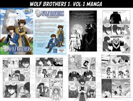 Wolf Brothers Manga +SOLD OUT+ by krystlekmy