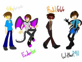 4 Deadly Minecrafters by Koopa-Doll