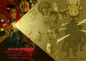 TLIID Ditko tribute Doctor Strange Floating Heads by Nick-Perks