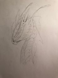 Swallowtail Raptor-Sketch by TheDracoDrawer123