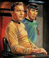 Star Trek original Kirk Spock by choffman36