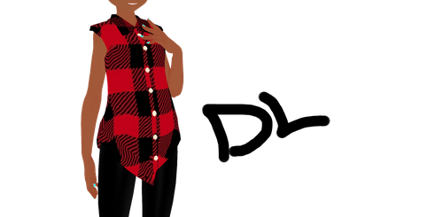 Coolio plaid top Dl* by xMoMoMiu
