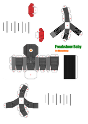 Freakshow Baby Papercraft (2) by aknupheap