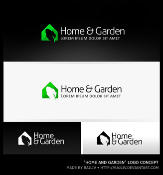 Home and Garden | Logo by Rajliv