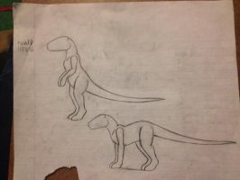 Dinosaur Project: Body posture  by Rexander134