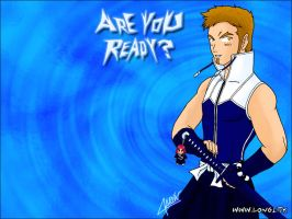 ArE YoU ReAdY? Blue Wallpaper by Darth-Longinus