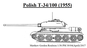 Polish T-34/100 (1955) by withinamnesia