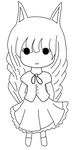DINKY CHIBI FOR: Puriellia - Lineart 1/2 by Rutchia
