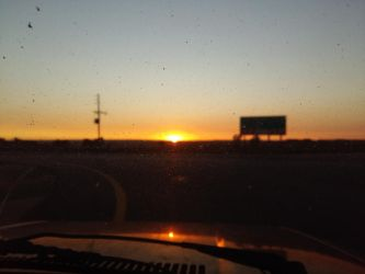 sunrise just off the highway by ART-IN-TRANSLATION