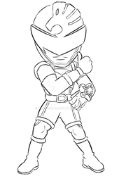[Chibi] Shishi Red - Lucky (Lineart Practice) by Volt-Gokai