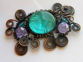 Copper brooch by XofHope