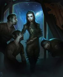 DnD - Dead for a spell cover illustration by Miles-Johnston