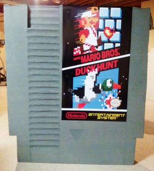 Giant NES Game Cartridge by XonixSoul