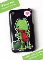 Treecko iPhone Case by PeterPan-Syndrome
