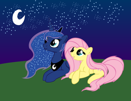 Princess Luna And Fluttershy by ArtStude3n2