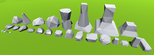 Low Poly Rock Pack 001 (with download) by EEEnt-OFFICIAL
