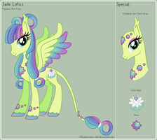 MLP - Jade Lotus Reference Sheet by theRainbowOverlord