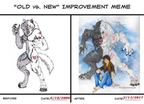Old vs New Meme completed by Wolfattwilight