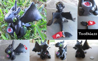 HTTYD Clay Toothless by PunkTrunk