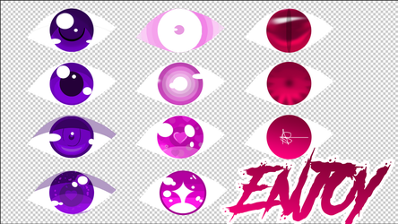 Anime Eyes - you can use for refrence :D by AlwaysScared