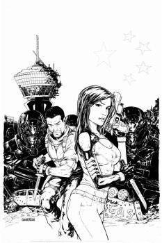 Dissension #2 cover inks by Arciah