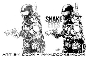 SNAKE EYE pencils to inks by DCON