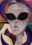 Grey Alien in Colour by DanaVarahi