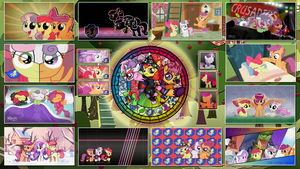 Cutie Mark Crusaders Stained Wallpaper -CMC- by GT4tube