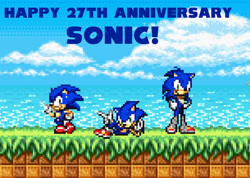 27th Anniversary of Sonic the hedgehog by BeeWinter55