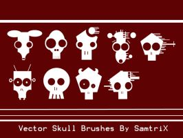 Vector Skulls by SamtriX
