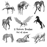 11 Unicorn PS Brushes by Spyderwitch