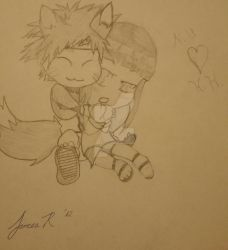 Chibi Naruto and Hinata by GrimStealthGaming