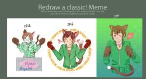 Redraw meme cat by nouge
