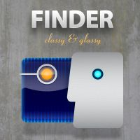 Finder Icon Classy and Glassy by cavemanmac