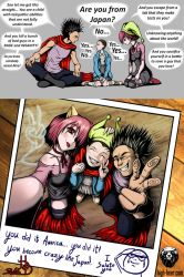 Eleven Meet Tetsuo and Lucy [comic strip] by High-Bear