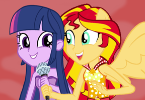 AU we're here to let you know by SunsetShimmer333