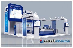 Turkiye Is Bankasi Exhibition Stand Design 3D by GriofisMimarlik