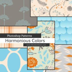 Harmonious Colors Photoshop Patterns by redheadstock