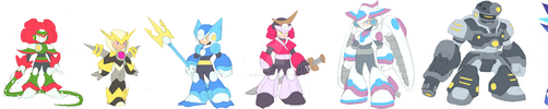 Robot Masters (DSN Series) Line-up by BLADEDGE