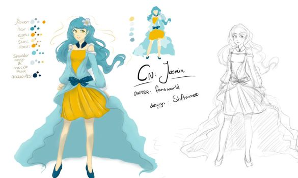 Commission: Character Design: CN Jasmine by ShAnimee